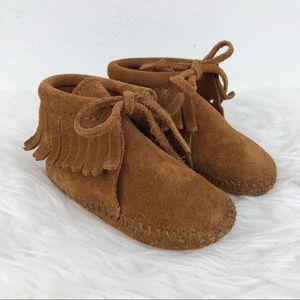 MINNETONKA Fringe Baby Bootie Brown Size 4